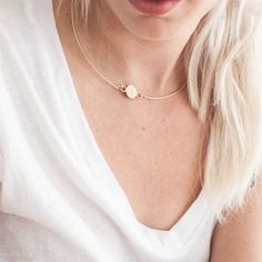 Whenever shopping for jewels Always Judging heads straight for the chokers. This simple signet choker from Jess Hannah is her perfect future heirloom piece.