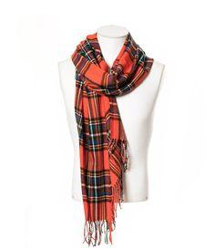 Bufanda de cuadros naranjas de Zara Hombre - tartan foulard scarf men orange