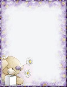 Printable Stationary - I had lots of cute letter papers as such and I would actually use them. Free Printable Stationery, Printable Paper, Borders For Paper, Borders And Frames, Fizzy Moon, Page Borders Design, Blue Nose Friends, Tatty Teddy, Stationery Paper