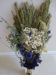Dried Bridal Bouquet   Dried Flowers  Floral Bouquet  Wedding Bouquet  Mothers Day Gift  Flower Bouquet  Get Well Bouquet  Rustic Weddiing by donnahubbard on Etsy