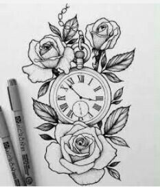 Pin By Ashley Donathan On Tattoo Rose Drawing Tattoo Watch Tattoos Tattoos