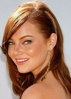 Emma Stone medium auburn hair ~~ 21 most famous celebrity redheads to inspire your next hairstyle