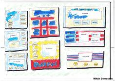 Dit zijn mijn inspiratieschetsen die ik heb gemaakt om te kijken hoe ik mijn website zou kunnen indelen. Ik wou graag dat de Adobe Flash animatie het meest opviel op de homepagina en dat de veilingen daarnaast of daaronder te zien waren (iets minder opvallend).