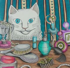 Gato Mania. Por: Nívea Rocha Monte. #GatoMania #Livro #Book #Colorir #Cat #CatLovers #Gato Colouring, Coloring Books, Cat Colors, Mindfulness, Princess Zelda, Animals, Fictional Characters, Art, Coloring Book Chance