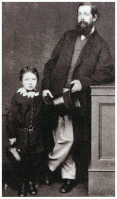 Young Arthur Doyle with his father Charles Altamont Doyle.