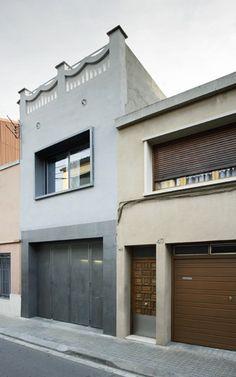 Vivienda entre medianeras casas medianeras narrow - Fachadas viviendas unifamiliares ...
