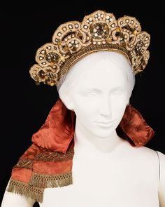 Russian wedding headdress via The Costume Institute of the Metropolitan Museum of Art