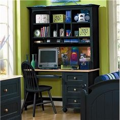 Hampton Bay 5 Piece L Shaped Desk And File Cabinet Unit By