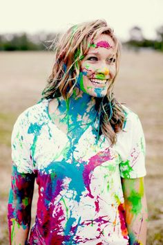 Paint fight..cool idea for photo