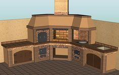 An outdoor kitchen can be an addition to your home and backyard that can completely change your style of living and entertaining. Outdoor Island, Outdoor Oven, Outdoor Dining, Rustic Kitchen Design, Outdoor Kitchen Design, Patio Design, Kitchen Designs, Outdoor Kitchens, Backyard Kitchen
