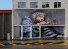 Street Art, Bergen, Around The Worlds, Corner, Painting, Street, Museums, Painting Art, Paintings