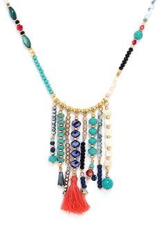 BaubleBar 'Congo' Beaded Tassel Necklace