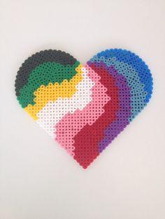 Hjerte - perler - heart - beads - hama