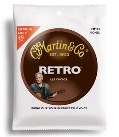 Laurence Juber's Signature Martin Sound Martin® Retro® acoustic guitar strings are crafted from a long-lasting proprietary nickel-based alloy blend that mellows quickly to a warm vintage tone that brings out the unique, woody sounds in your guitar. Acoustic Guitar Strings, Learning, Retro, Medium, Tips, Studying, Teaching, Retro Illustration, Onderwijs