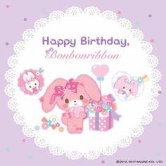 Bonbonribbon 7th Birthday, Happy Birthday, Cute Texts, My Melody, Sanrio, Princess Peach, Tea Party, Jade, Flora