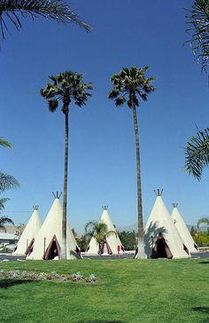 "Route 66 - Wigwam Motel. The California wigwams of San Bernardino. ""The Fine Art Photography of Frank Romeo."""