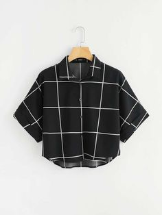 SheIn offers Cuffed Sleeve Grid Shirt & more to fit your fashionable needs. SheIn offers Cuffed Sleeve Grid Shirt & more to fit your fashionable needs. Teen Fashion Outfits, Mode Outfits, Cute Fashion, Girl Outfits, Summer Outfits, Fashion Styles, Fashion Women, High Fashion, Fashion Trends