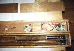 Fly Fishing Rods Vintage Grampus Kiraku Split Bamboo  Made in Japan Original Box