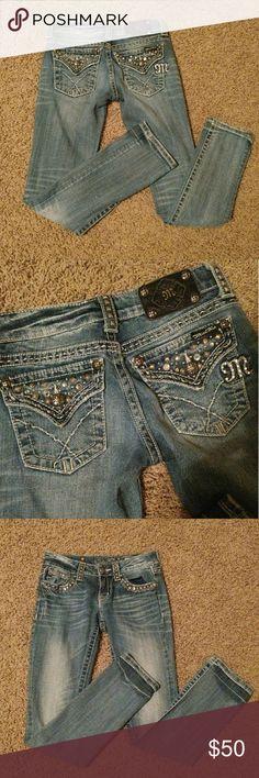 Miss Me skinny jeans Size 25  Like new!! Miss Me Jeans Skinny