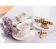 Villa Italia Bari - Zestaw do herbaty/kawy dla 12 osób, pomysł na prezent, ślub, wesele, prezenty ślubne, ślubny prezent, prezent na ślub, prezent z okazji ślubu, prezenty, wyjątkowy prezent, porcelana