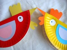 Paper plate hens. Super cute, but you need to have at least an ounce of creativity or speak Polish (I think), since the directions aren't in English.