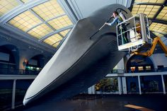 Thar She Glows! How the Natural History Museum Cleans Its Blue Whale - The New York Times