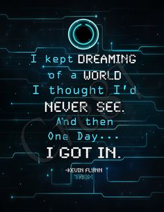 """Items similar to Disney """"Tron Legacy"""" Movie Quote Print on Etsy Tron Uprising, Legacy Quotes, Diy Broderie, Tron Legacy, Nerd, About Time Movie, Disney Quotes, Movie Quotes, Cyberpunk"""