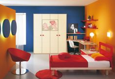 Amazing  9 Blue Orange Bedroom Ideas