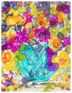 """""""September Bouquet"""" original fine art by Kelly Alge"""
