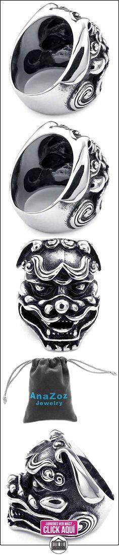 AnaZoz Acero Inoxidable Bulky Gothic León Negro Plata Heavy Anillos de Hombres Tamaño 25 Joyería de Moda  ✿ Joyas para mujer - Las mejores ofertas ✿ ▬► Ver oferta: https://comprar.io/goto/B00ZC9Z1DU