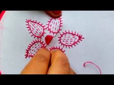Hand Embroidery- Blanket stitch Flower Embroidery - YouTube