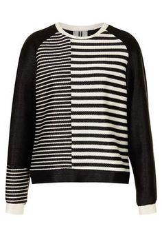 **Raffia Stripe Sweat by Unique - Hoodies & Sweatshirts - Tops  - Clothing