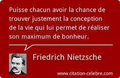 Citation Vie, Bonheur & Chance (Friedrich Nietzsche - Phrase n°37651)                                                                                                                                                                                 Plus