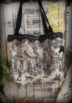 Toille Purse Tote Bag by CraftCottageOnline on Etsy, $28.00