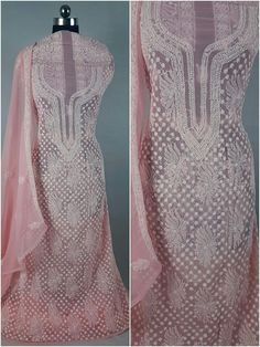 Marvelous hand chikan embroidery in a stunning color Woman Dresses, Indian Wear, Embroidery, Suits, Wedding Dresses, How To Wear, Color, Design, Women