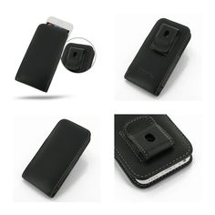PDair Leather Case for Apple iPhone 5C - Vertical Pouch Type Belt Clip Included (Black)