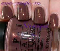 OPI - Wooden Shoe Like to Know?  This is the shellac color I just had them put on my nails this evening and I do believe it's my new favorite