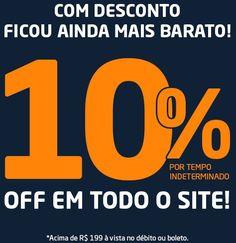 Pegue agora seu desconto de 10% no Shopfato para compras acima de R$199 à vista no débito ou boleto e, aproveite as super ofertas no site.
