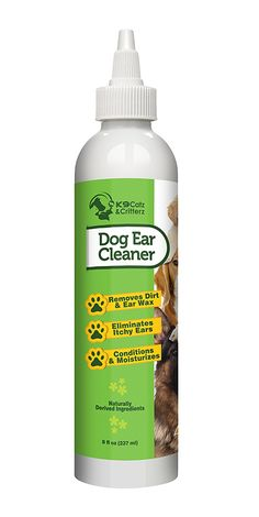 Natural Dog Ear Cleaner. Gentle Cleansing and Deodorizing Drops to Help Prevent Itching and Ear infection and for Removing Dirt, Wax and Eliminating Odors. Made in USA by K9 Catz and Critterz. 8 oz -- Check this awesome product by going to the link at the image. (This is an affiliate link and I receive a commission for the sales)