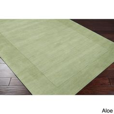 Hand-loomed Risor Solid Bordered Wool Area Rug (7'6 x 9'6) - 16095401 - Overstock.com Shopping - Great Deals on 7x9 - 10x14 Rugs