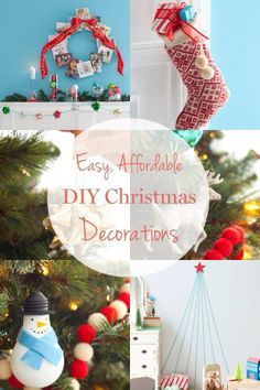 Easy and affordable Christmas Decorations
