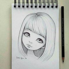 bleistiftzeichnung Minna by Ploopie Easy Pencil Drawings, Girly Drawings, Anime Drawings Sketches, Art Drawings Sketches Simple, Sketch Art, Cartoon Drawings, Easy Drawings Of Girls, Pencil Sketches Of Girls, Girl Drawing Easy