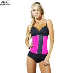 6e564a4c79e6c Womens Sport Tummy Girdle Waist Trainer Body Shaper Under bust Control  Corset Steel Button-fly
