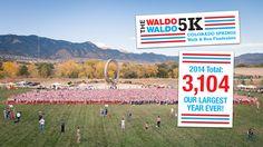 The Waldo Waldo 5K –A family friendly walk & fun run fundraiser in Colorado Springs. Maybe the funniest thing I've ever seen.