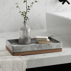 Greyleigh Stonington Concrete Stone/Wooden Amenity Tray You are in the right place about bathroom accessories png Here we offer you the most beautiful pictures about the bathroom accessories brushed n Concrete Crafts, Concrete Projects, Concrete Furniture, Diy Projects, Concrete Planters, Bathroom Tray, Master Bathroom, Bathroom Ideas, Bathroom Canvas