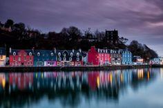 Tobermory just before sunrise. Isle of Mull, Inner Hebrides, Scotland Scotland Road Trip, Scotland Travel, Stonehenge, Beautiful Islands, Beautiful Places, Amazing Places, Places To Travel, Places To See, Travel Around The World