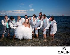 Fun Picture of the Bride and Groomsmen - Wedding Photographers Toronto - Photography by Calin Toronto Photography, Wedding Photography, Kingston Ontario, Local Pubs, Fun Shots, Destination Weddings, Summer Days, Groomsmen, Elementary Schools