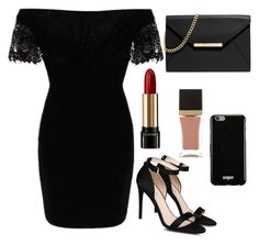 """""""Little black dress #36"""" by tropicaldoze ❤ liked on Polyvore featuring STELLA McCARTNEY, Tom Ford, Lancôme, MICHAEL Michael Kors and Givenchy"""