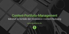 Content-Portfolio-Management – Ein neues Mindset für die Content-Strategie?  Es reicht nicht, regelmäßig neuen Content zu produzieren.    Das Content-Angebot dominiert schon jetzt die Nachfrage, sodass jeder neue Blogartikel, jede neue Infografik und jedes neue Video eigentlich nur dazu führt, dass unsere eigenen vorhandenen Inhalte an Sichtbarkeit verlieren. Denn je größer das Marktvolumen, desto schwieriger wird es, die Aufmerksamkeit unserer Zielgruppen zu gewinnen.   Vielmehr sol..