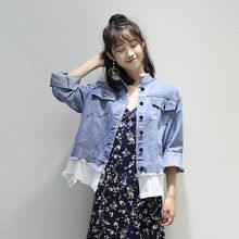 Tag a friend who would love this!|    Brand new arriving New Brand Plus Size Spirng Denim Jacket for Women 2017 Long Sleeve Short Jeans Jacket Women Slim Oversized Denim Coat Lace Tops now available for purchase $US $25.25 with free shipping  you will find this specific product and even more at the site      Have it right now in the following…
